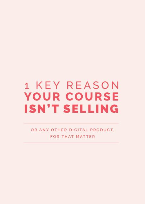 1 Key Reason Your E-Course Isn't Selling   Elle & Company
