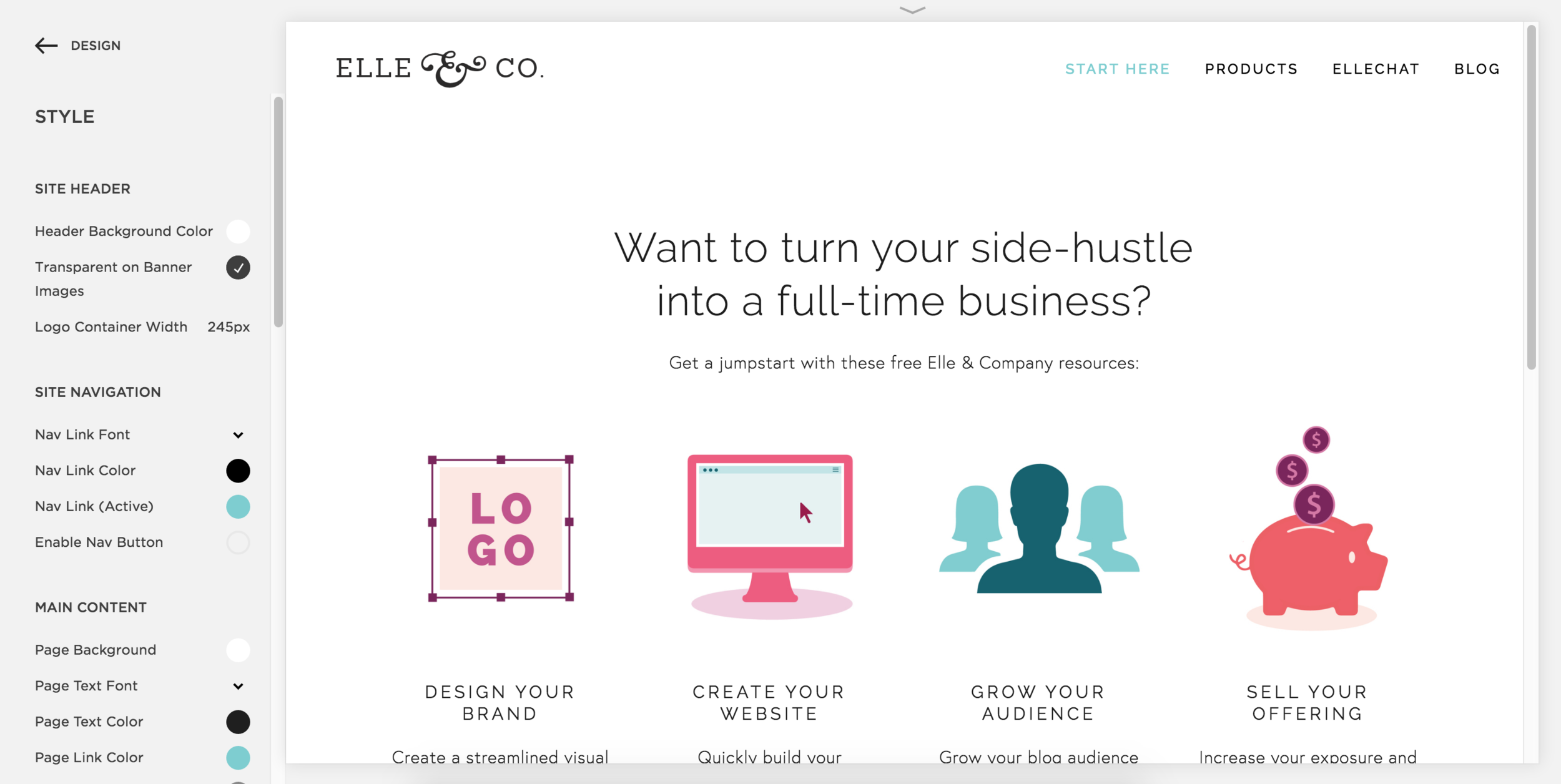 Using the Style Editor to Customize Your Squarespace Website | Elle & Company
