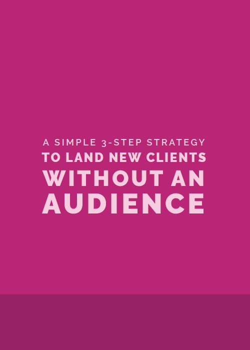 A Simple 3-Step Strategy to Land New Clients without an Audience | Elle & Company