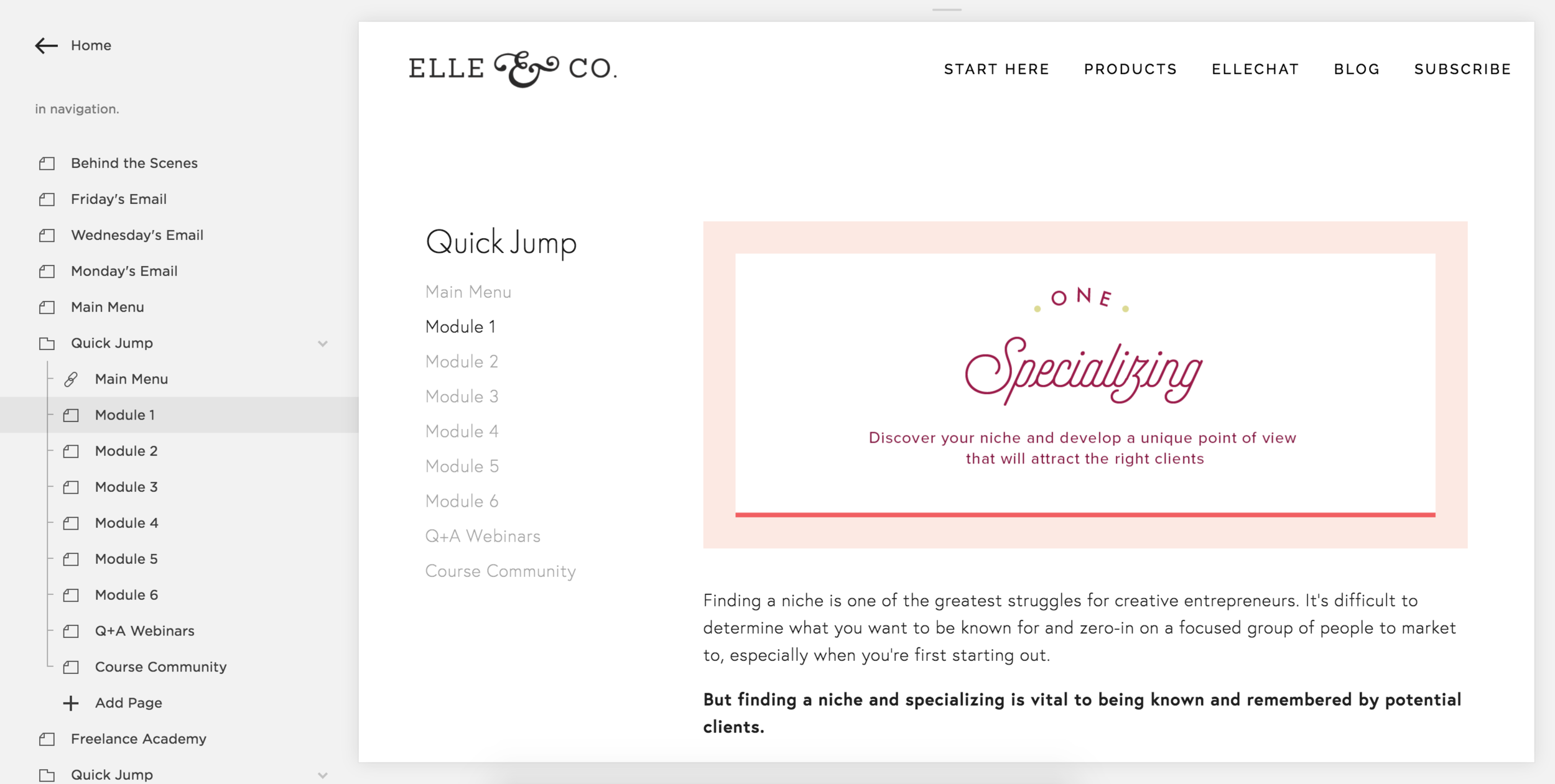 How to Create a Membership Site Using Squarespace | Elle & Company