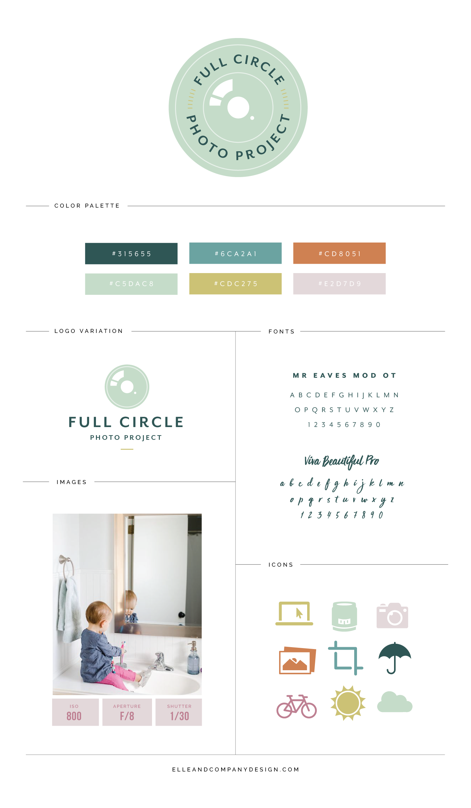 New Brand + Website Design for Full Circle Photo Project | Elle & Company