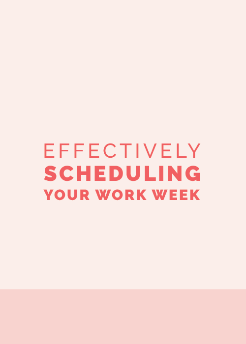 Ellechat Recap: Effectively Scheduling Your Work Week | Elle & Company