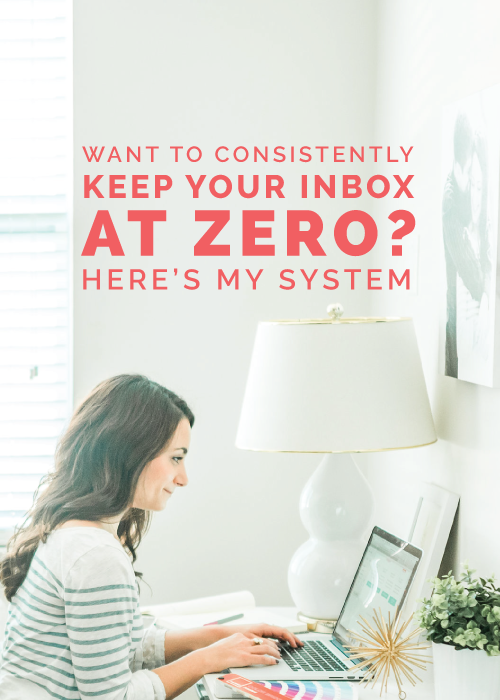 Want to Consistently Keep Your Inbox at Zero? Here's My System | Elle & Company
