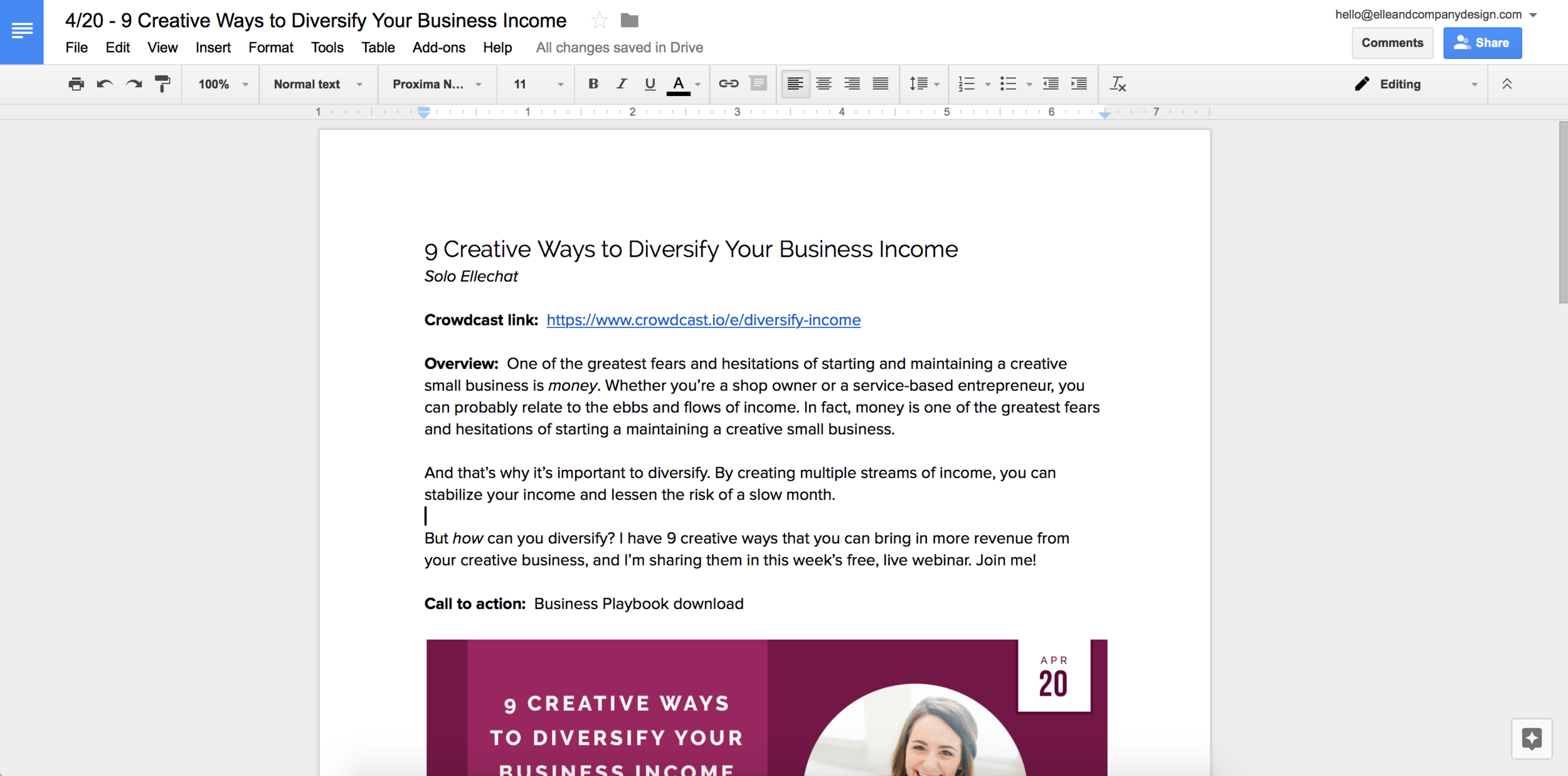 12 Google Doc Templates to Make Your Business More Efficient | Elle & Company