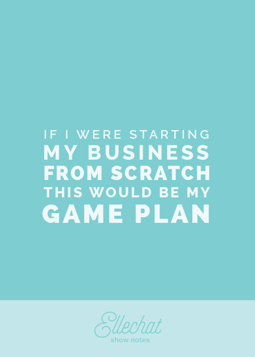 If I were starting my business from scratch, this would be my game plan - Ellechat Episode 001 Show Notes