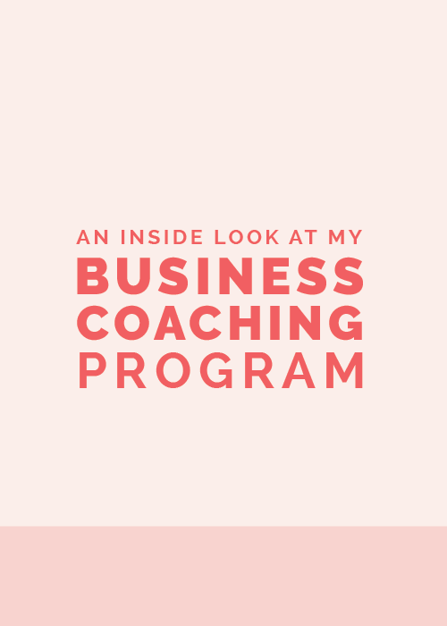 An Inside Look at My Business Coaching Program | Elle & Company