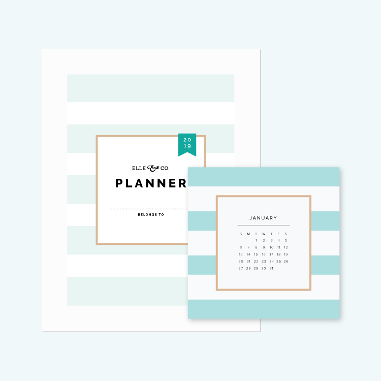 Elle & Company Library - Planners + Calendars