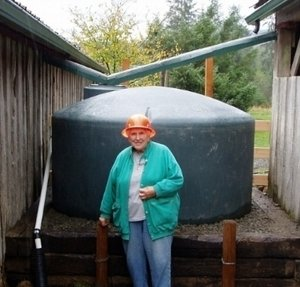 New Rainwater Harvesting Guide now available! - The Rainwater Harvesting Guide will help you learn the basics on how to collect and store roof runoff for use as stock water and irrigation. Pictured is a 1,100 gallon cistern used to collect roof water for livestock watering on a farm in Clallam Bay.