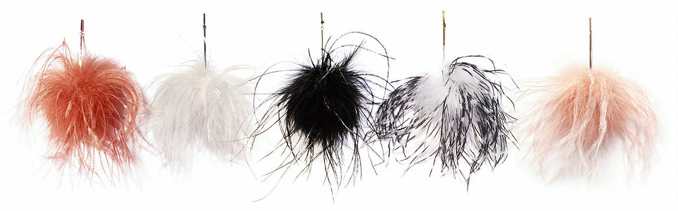 Ostrich Pom Pom Earrings - Tuleste