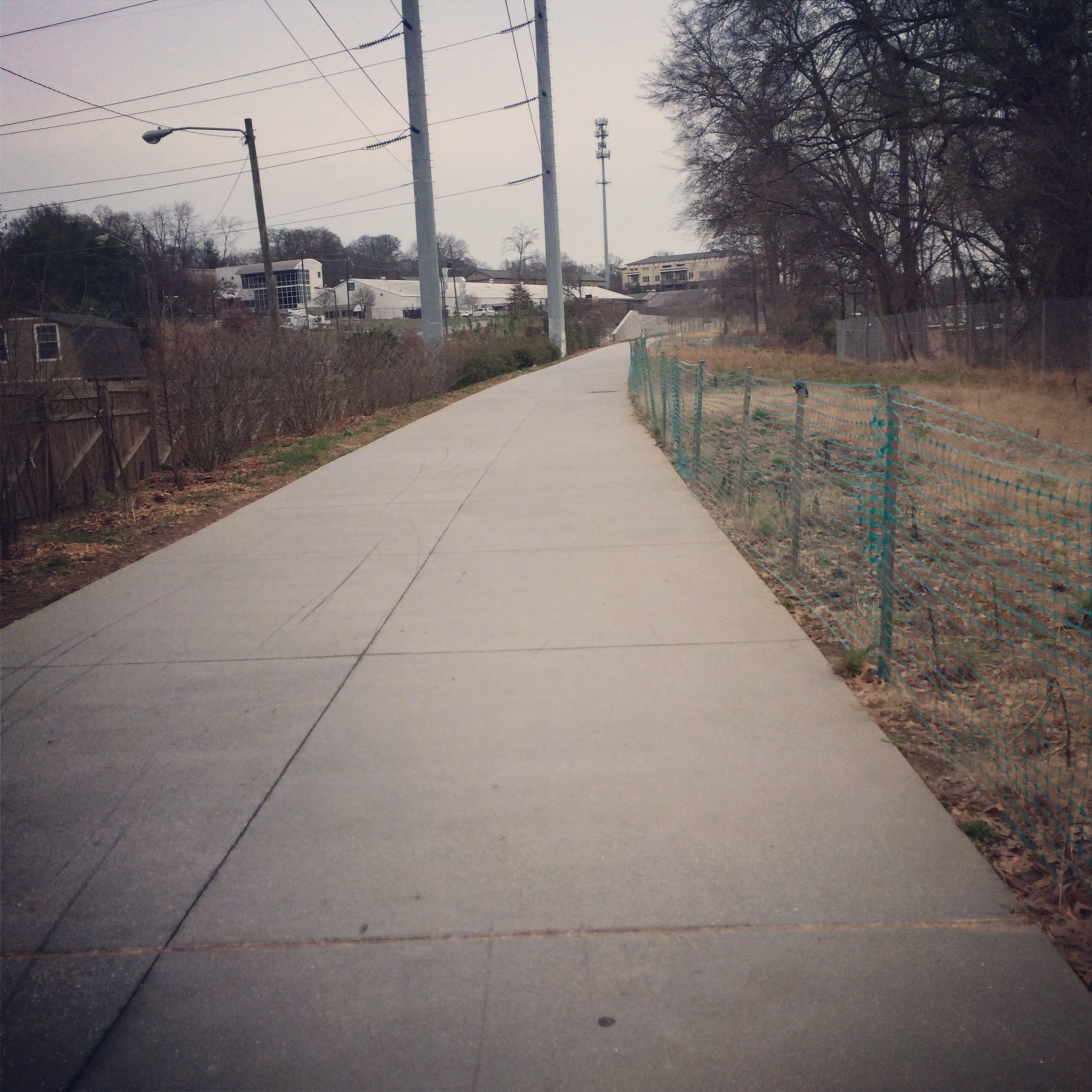 Took a chilly jog on the BeltLine. Never home during daylight hours anymore, so this was a treat.
