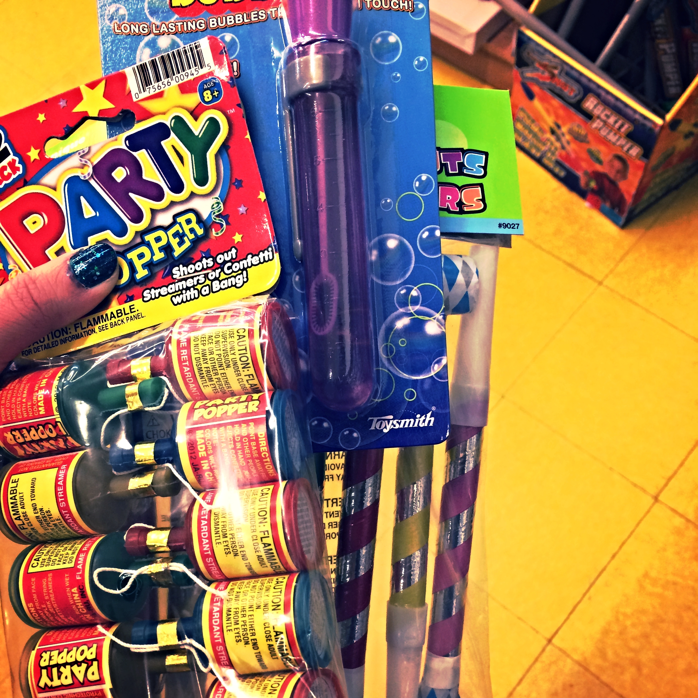 Party supplies. Not pictured: bubbly.