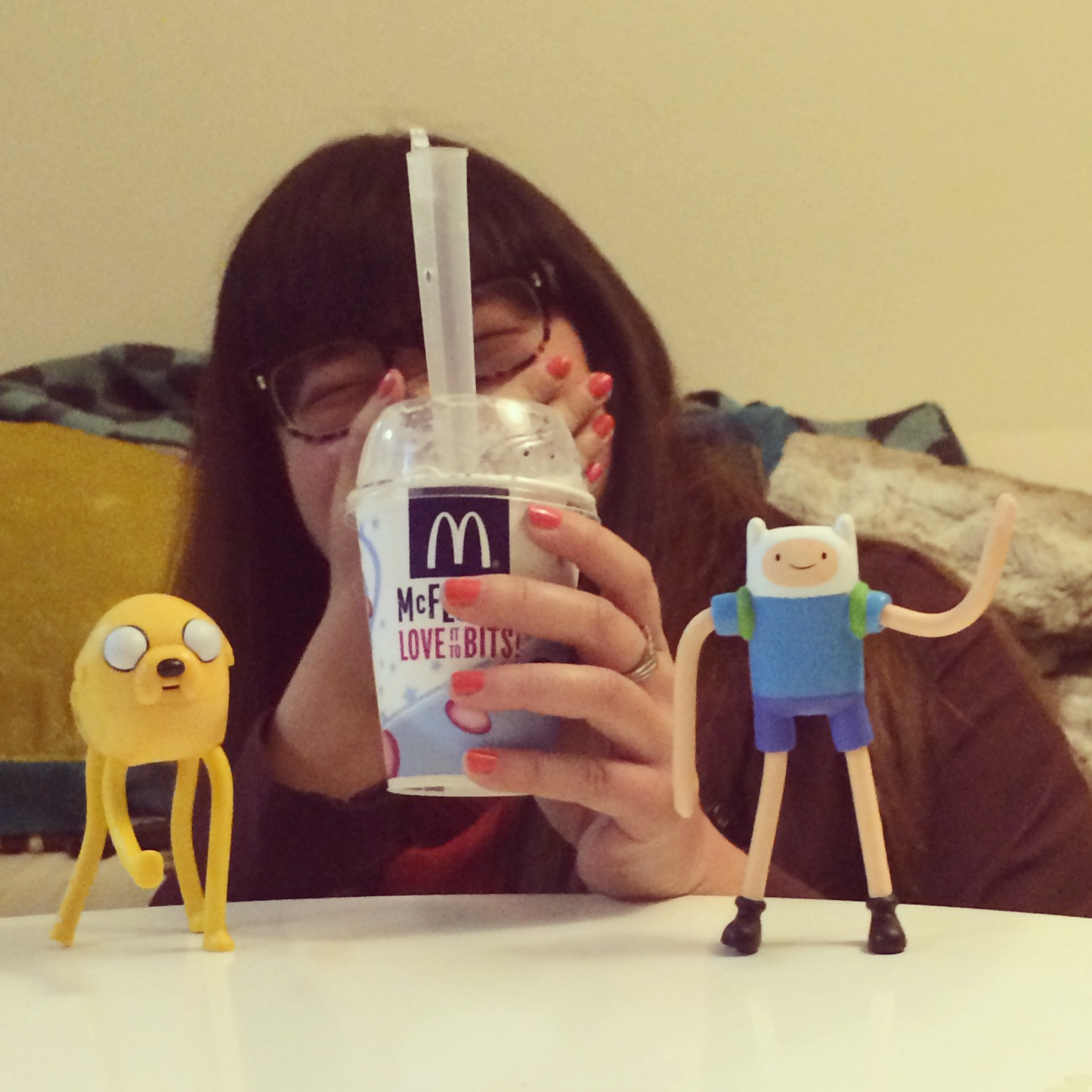 I'm on a mission to collect 6/6 Adventure Time toys at McDonald's.