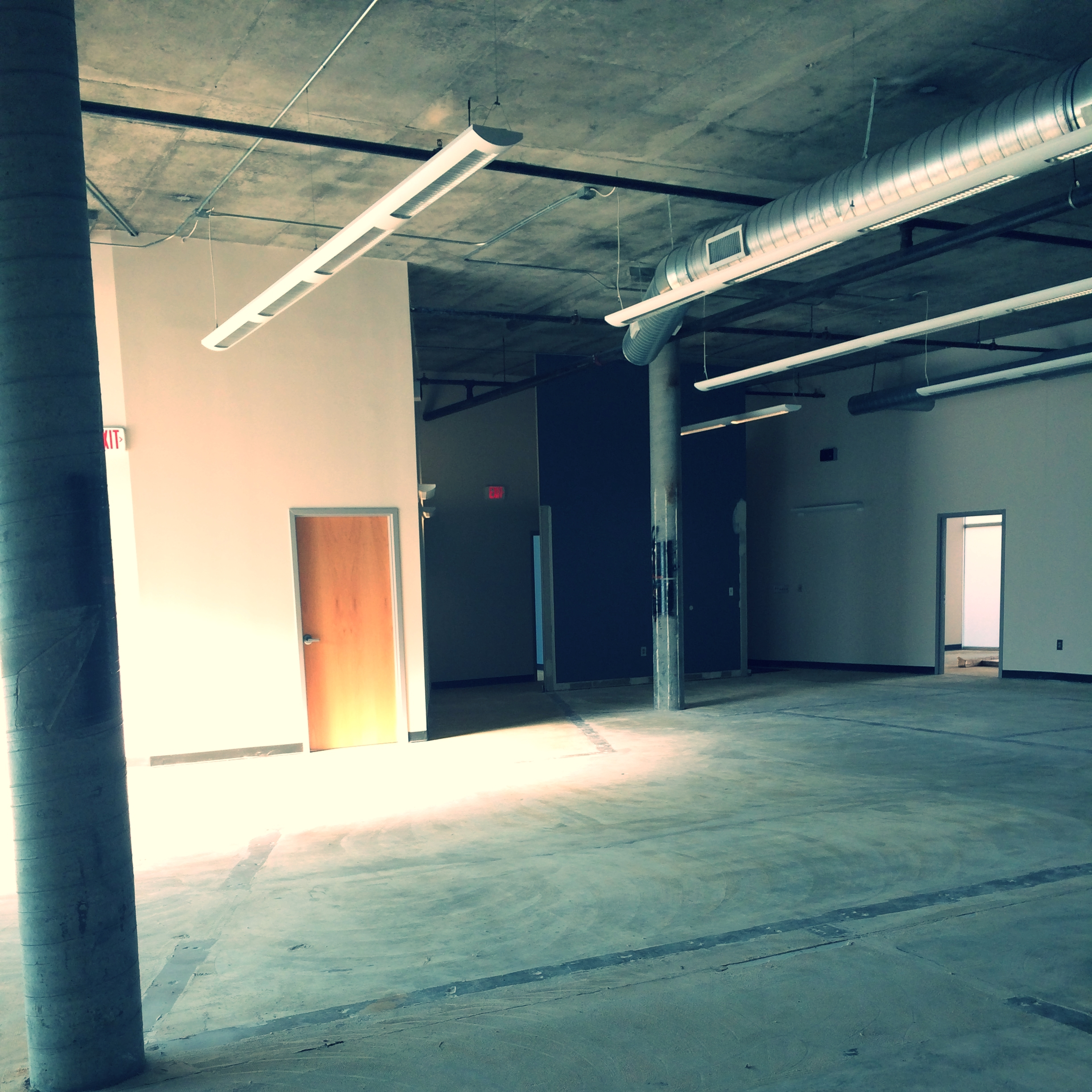 I got a sneak peek into a blank canvas of a building this week. Very excited for things to come!