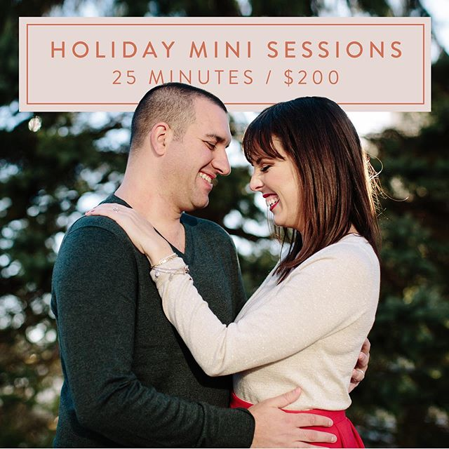 Now booking Holiday Mini Sessions! ✨ Monday, November 11, 2019 at @themaplesestate ✨ Head to the link in my bio to get in touch and I will send along all the details on how you can reserve your mini session spot ✨