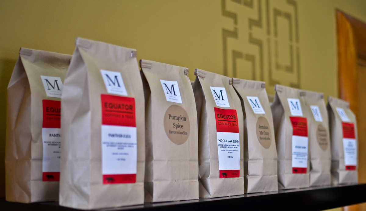 Assorted coffees available by the pound. $1 of each goes to Project 117.