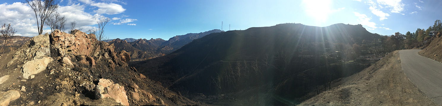 Panorama From Corner of Lookout Drive Looking At Malibu Creek State Park