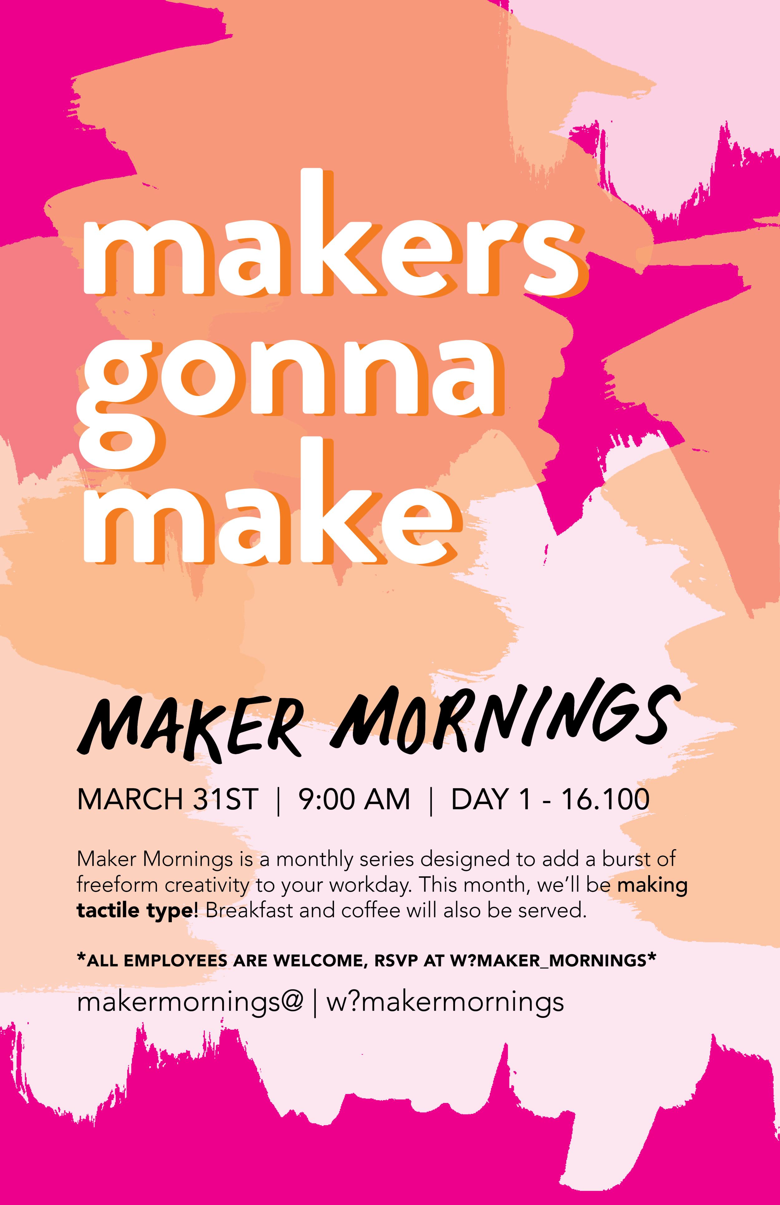 Maker Mornings Poster