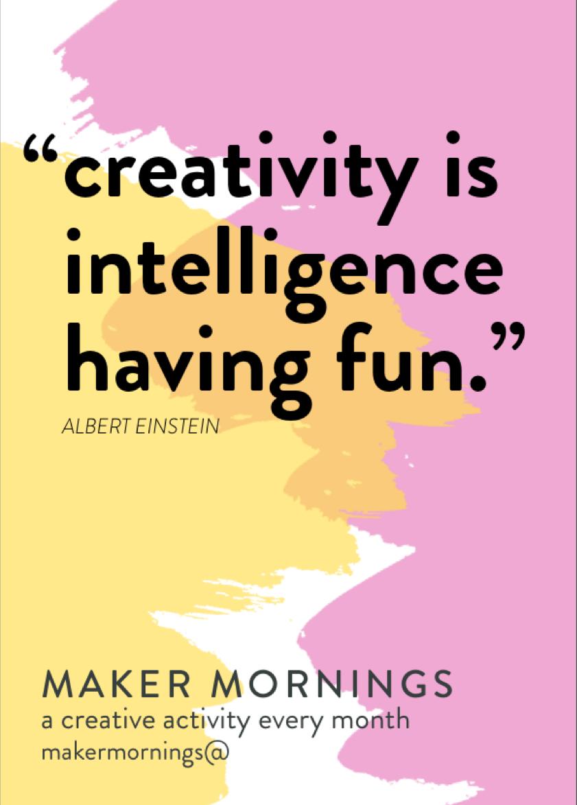 Maker Mornings 6x4 Cards