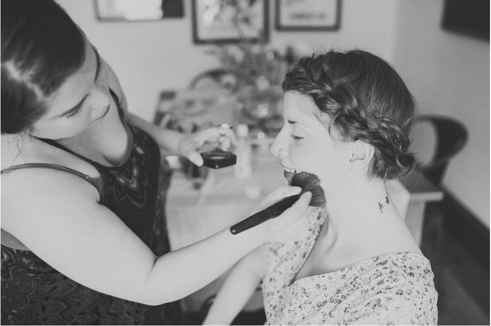 the lovely and talented julianna pastel touching up the gorgeous shannon costello.
