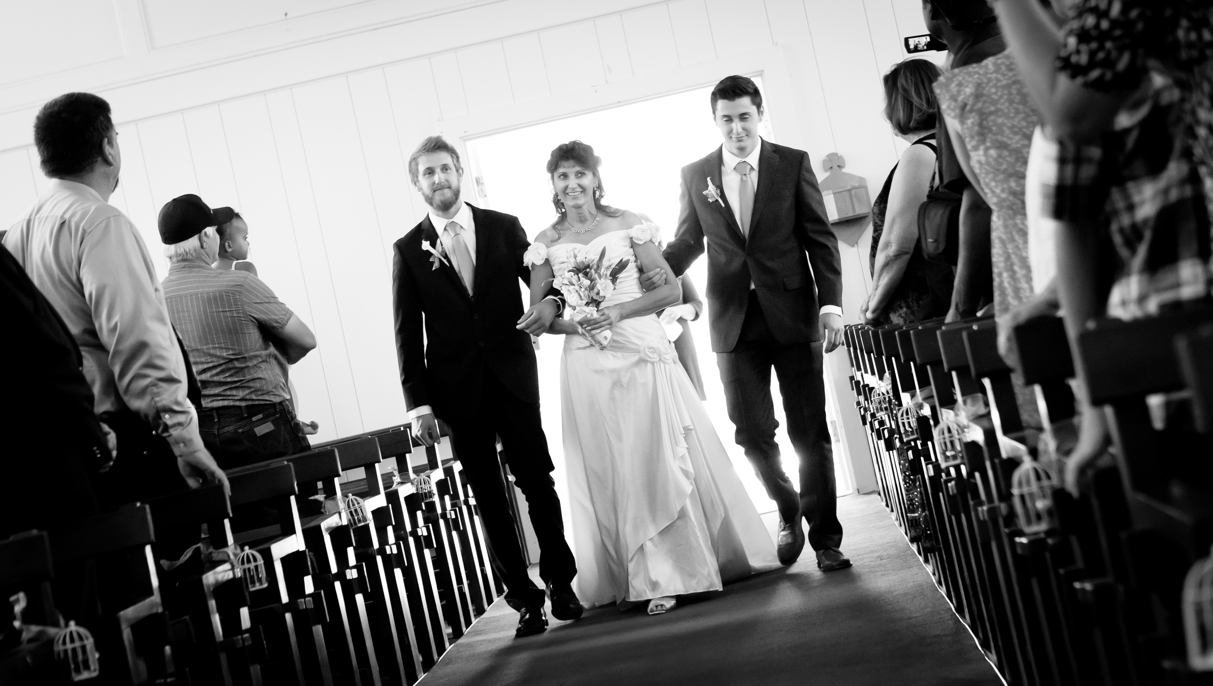 Lynn's sons walked her down the aisle...the BEST moment!!