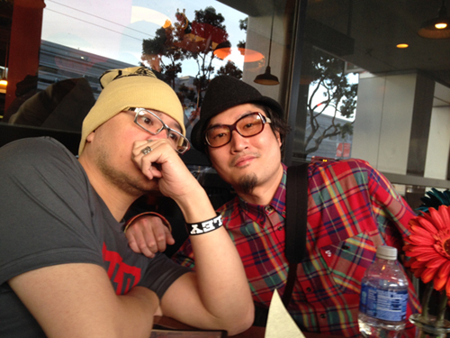 Cold lampin' with Pixeljunk Eden artist and composer, Baiyon, in between GDC appointments
