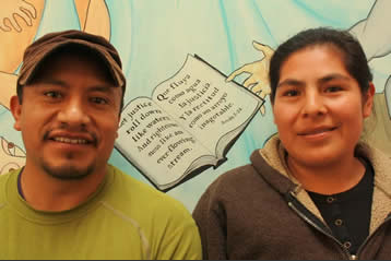 Salvio and Victoria Hernandez  (Directors of Family Support Center, Migrant Family Advocacy)  Salvio and Victoria work in the Family Support Center offering accompaniment, legal advocacy, translation, assistance and home visitations. They love going to people's homes to read the Bible, praying for--and with--others and praising God. They love to see God transform lives through God's Word.   Click here to support Salvio and Victoria's ministry at Tierra Nueva.