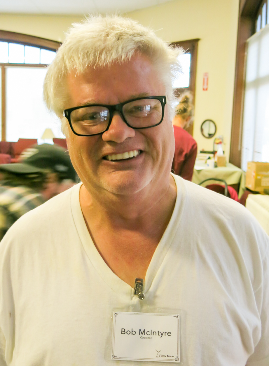 Bob McIntyre, greeter