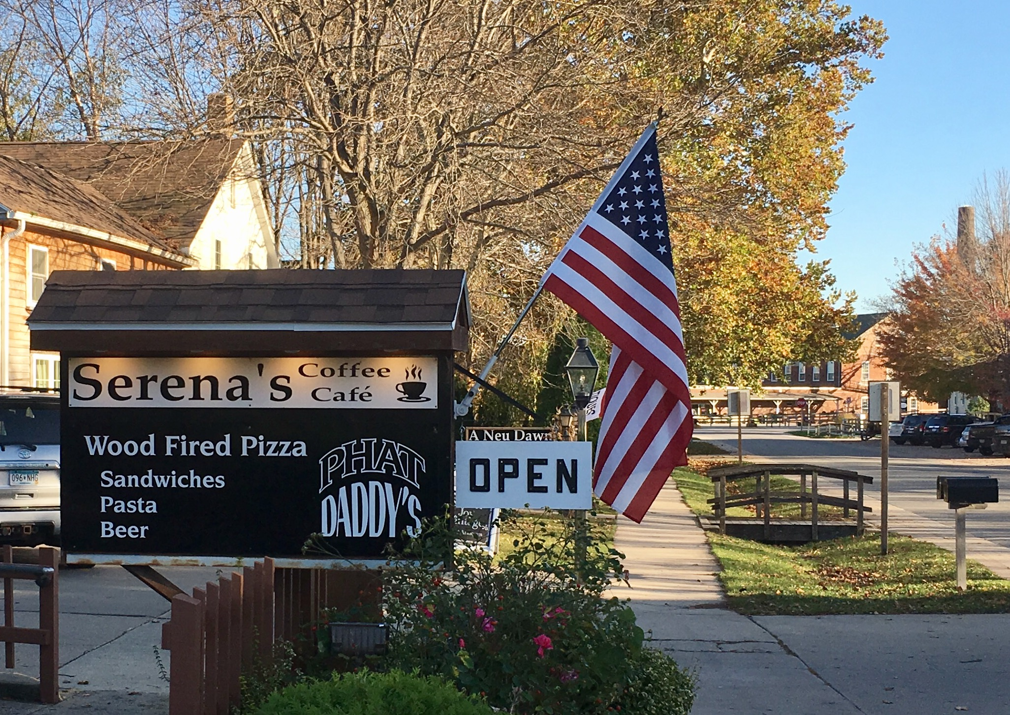 We are located in the former 'Brick Haus' restaurant just up the street from the Amana Woolen Mill & Amana Furniture Shop!