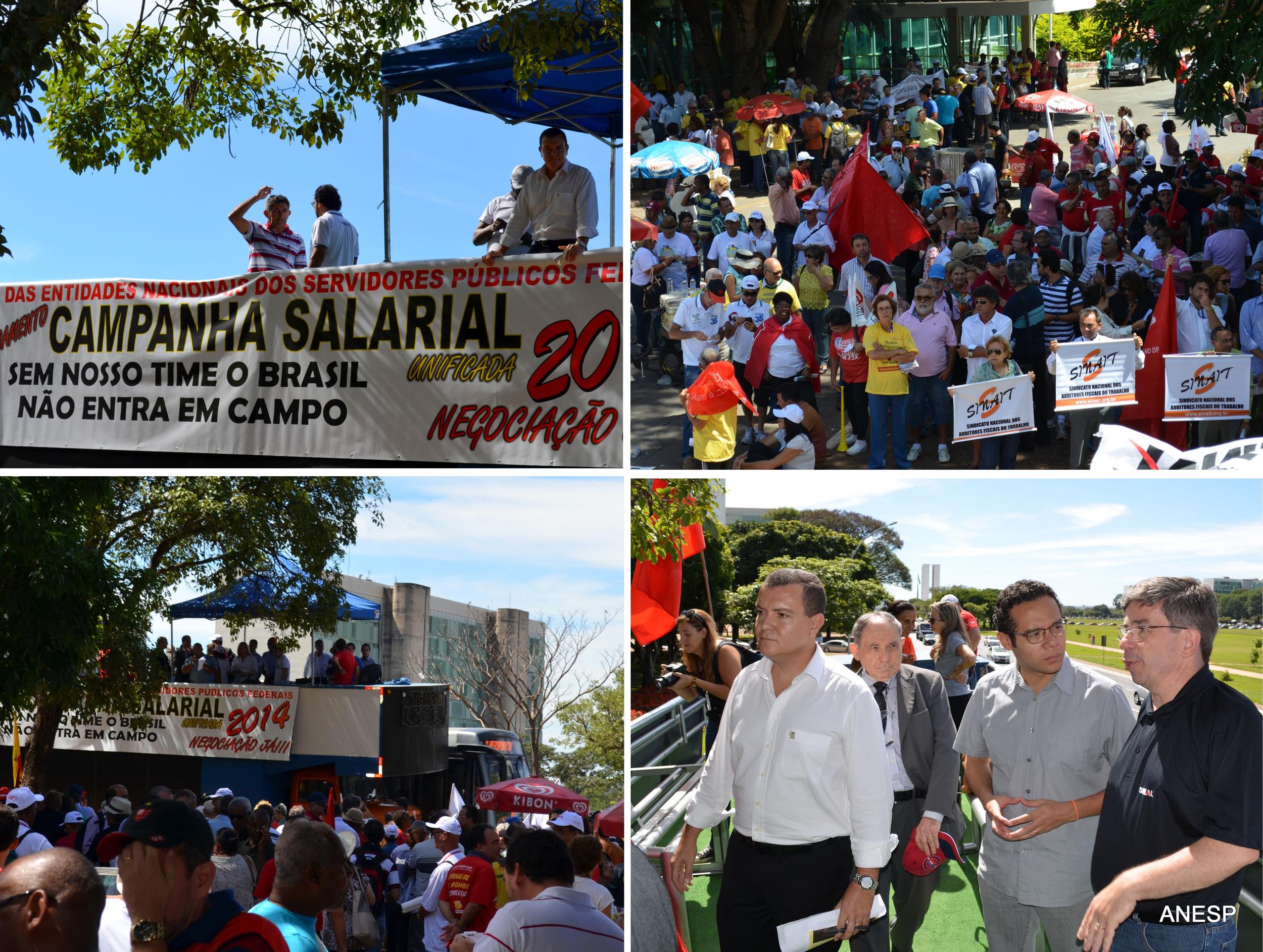 O presidente João Aurélio foi um dos representantes da ANESP no Ato Público. Fotos: Filipe Calmon/ANESP