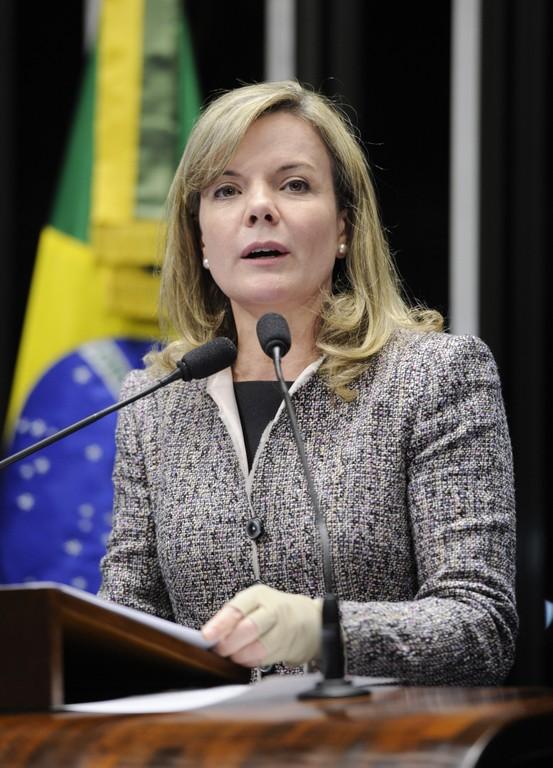 Senadora  Gleisi Hoffmann . Foto: Pedro França/Agência Senado
