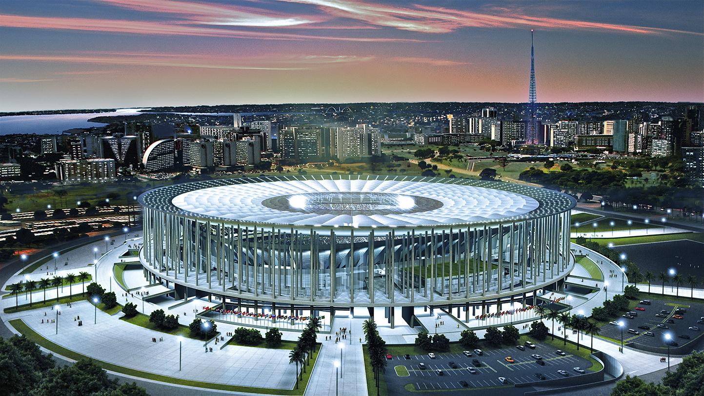 Estádio Nacional Mané Garrincha em Brasília. Foto: Empresa Brasileira de Comunicação.