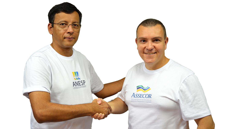 Eduardo Rodrigues e João Aurélio. Carreiras de Planejamento e Orçamento e de EPPGGs prometem trabalho conjunto. Foto: Filipe Calmon / ANESP