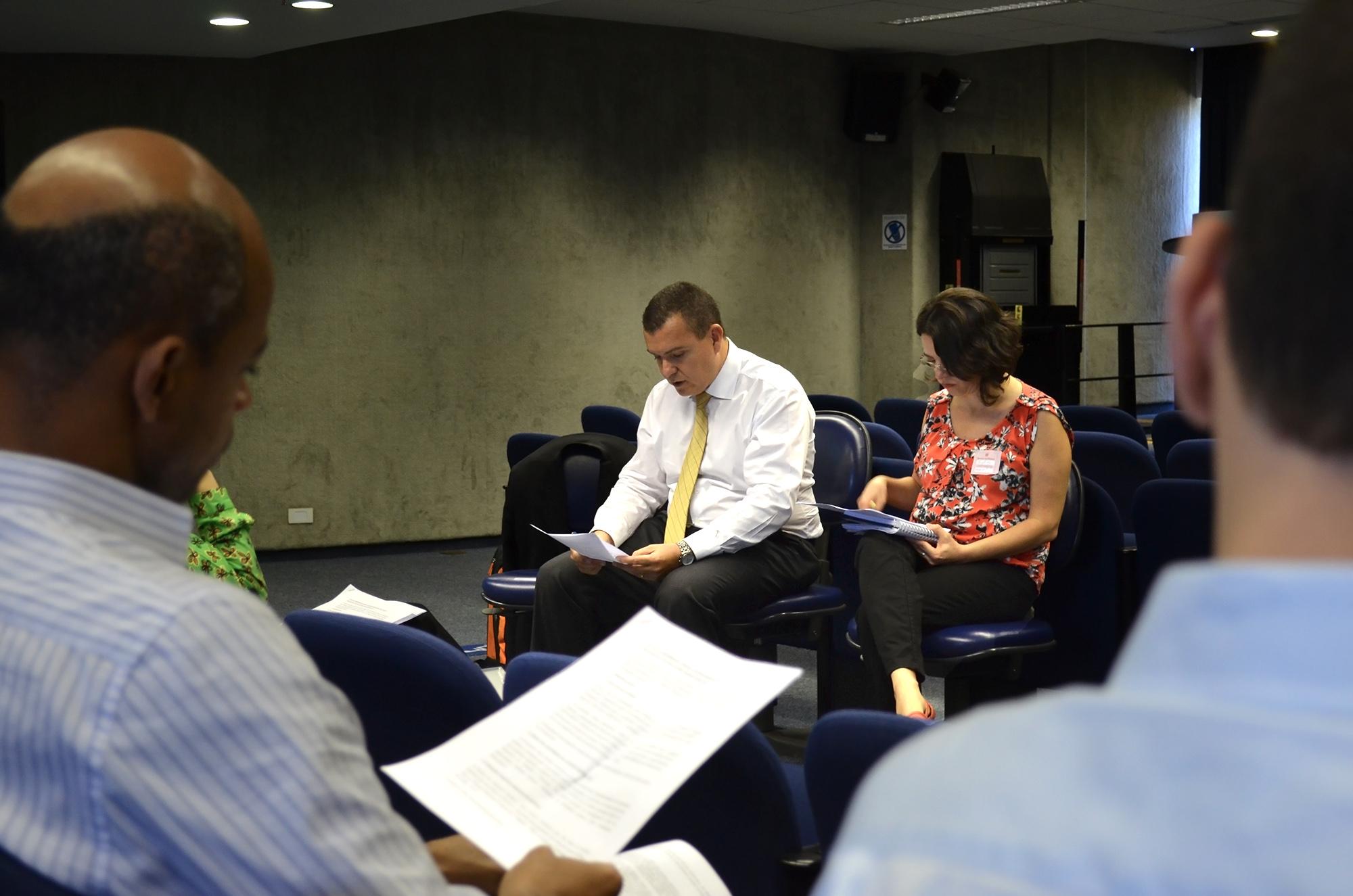 O relatório de 6 meses da nova gestão foi lido pelo presidente da Associação. Foto: Filipe Calmon / ANESP