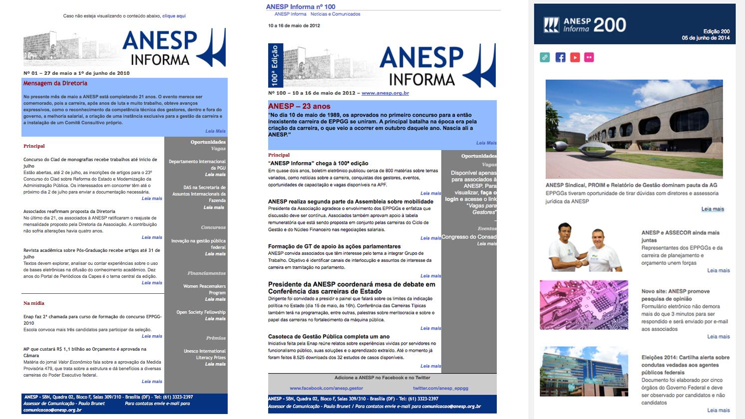Template do 1º, 100º e 200º ANESP Informa.