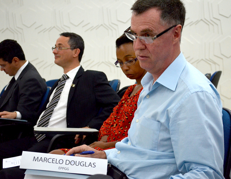 Marcelo Douglas veio de Minas Gerais especialmente para o debate
