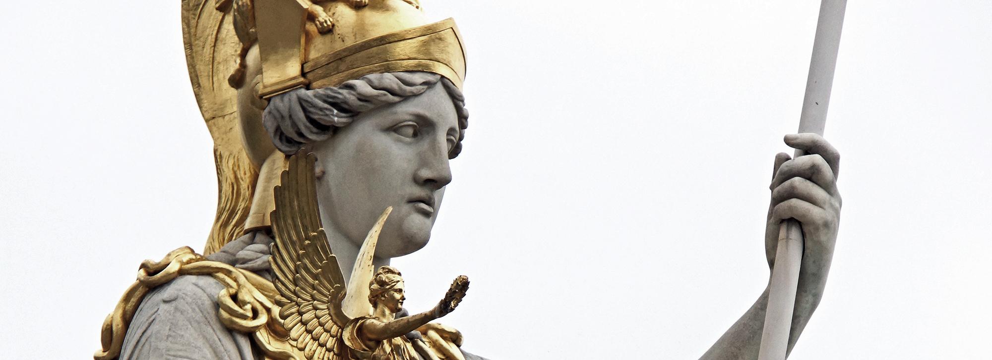 Deusa Atena, personificação do conhecimento e da sabedoria. Foto: Domínio Público