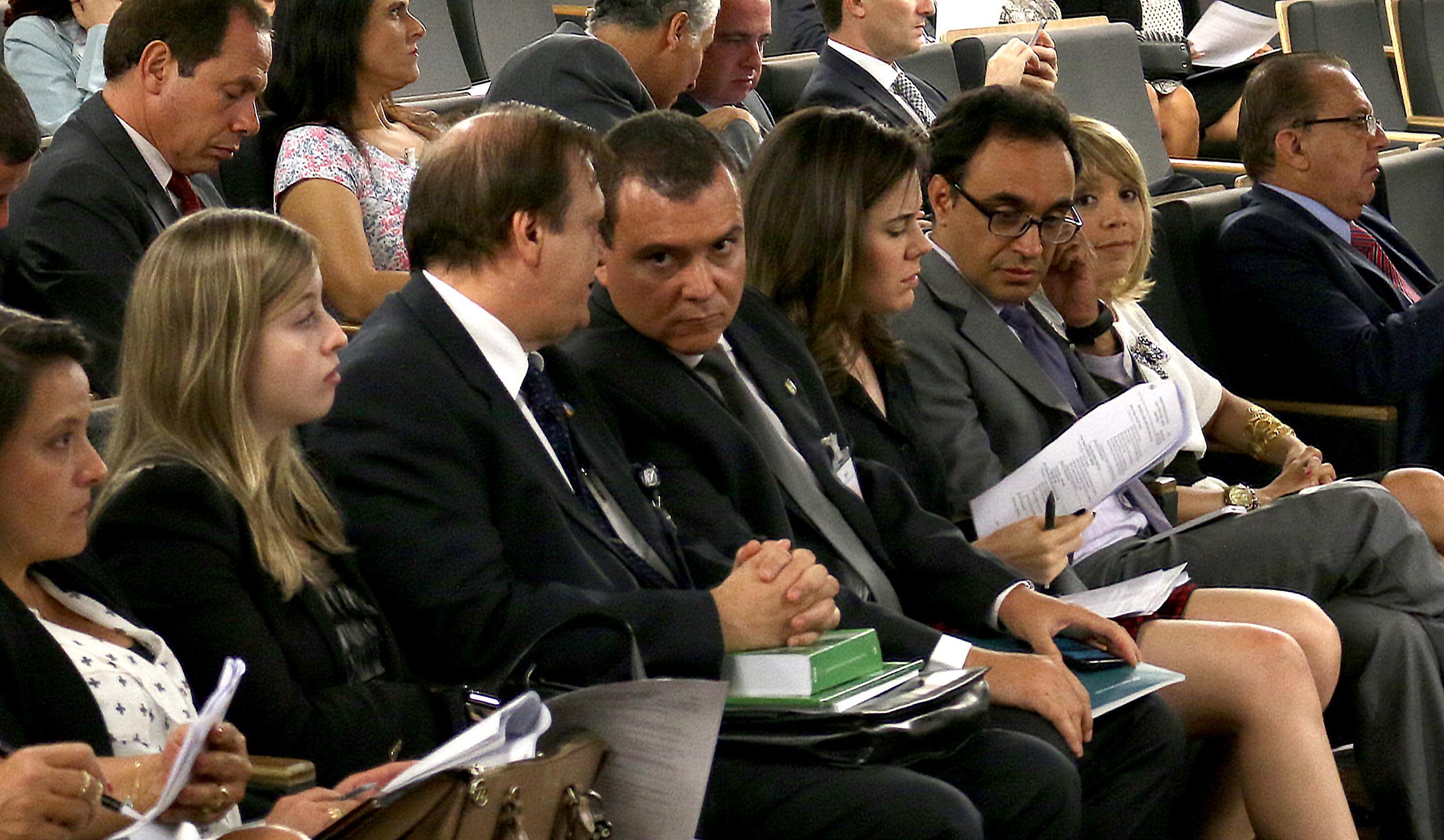 Luiz Alberto e João Aurélio, ex-presidente e atual presidente da ANESP. Foto: Filipe Calmon / ANESP