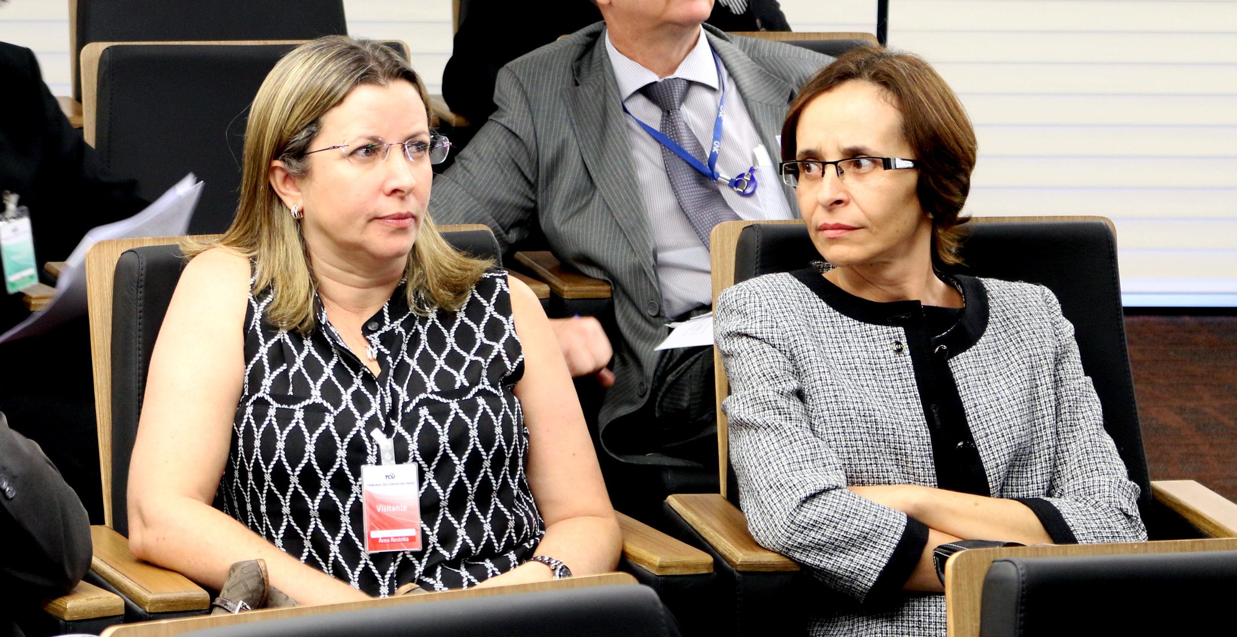 Ana Lúcia Amorim de Brito, secretária de Gestão Pública do MP e Marilene Ferrari Lucas, secretária-adjunta da Segep/MP. Foto: Filipe Calmon / ANESP