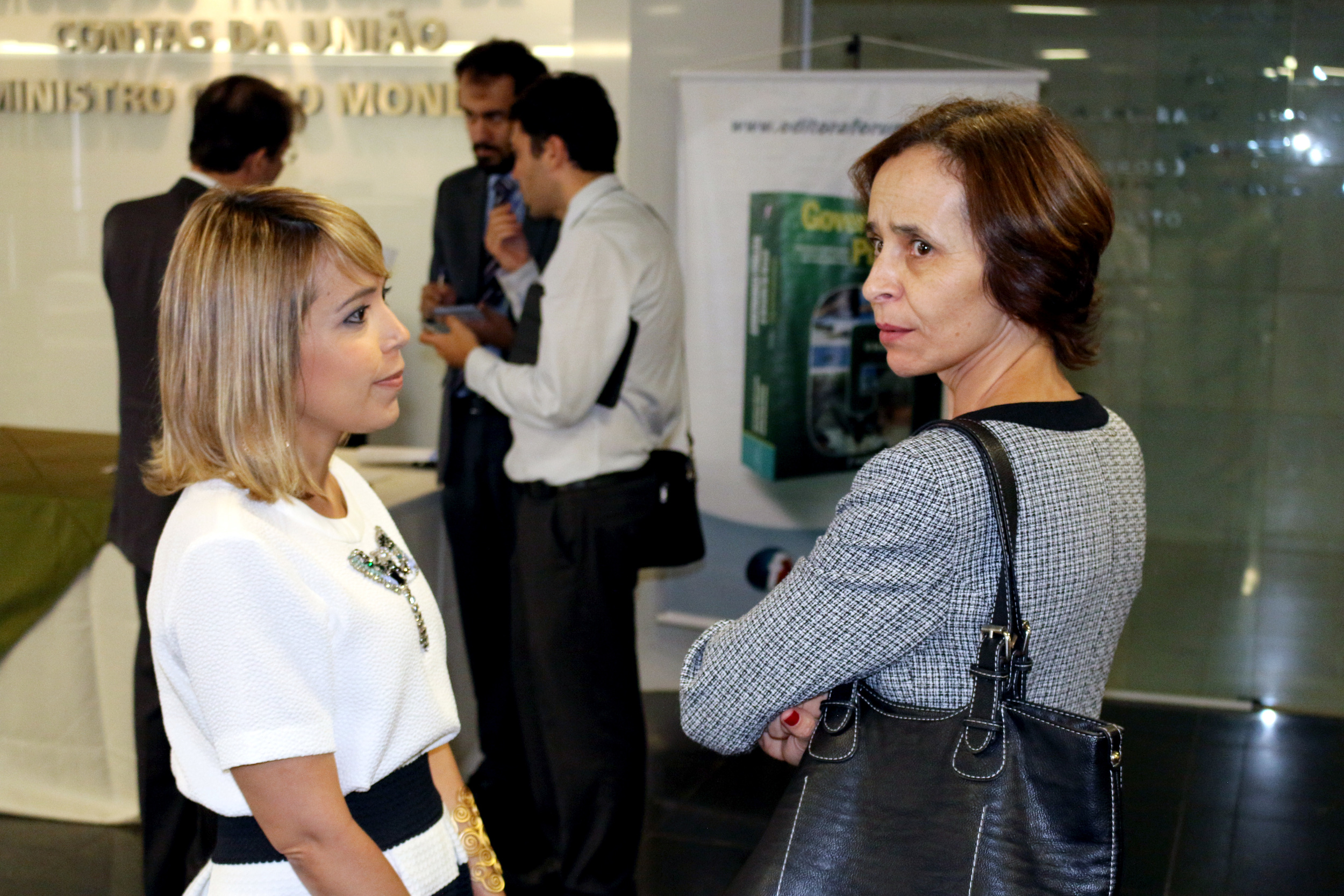 Aleksandra Santos, vice-presidente da ANESP, e Marilene Ferrari. Foto: Filipe Calmon / ANESP