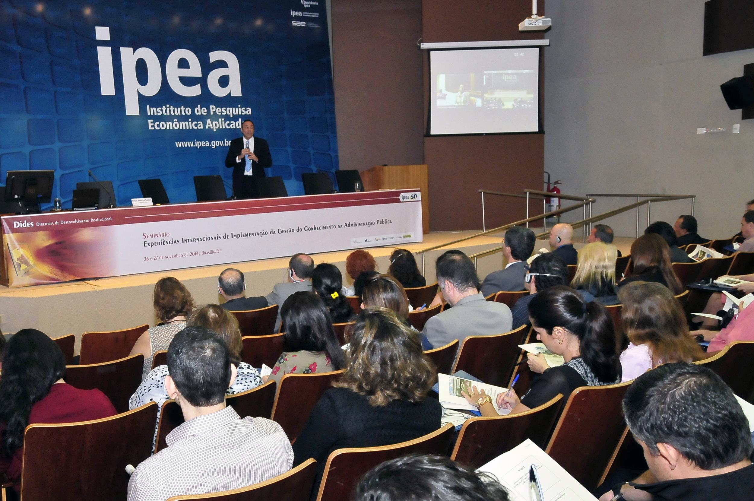 Seminário será realizado no auditório do Ipea. Foto: João Viana / IPEA