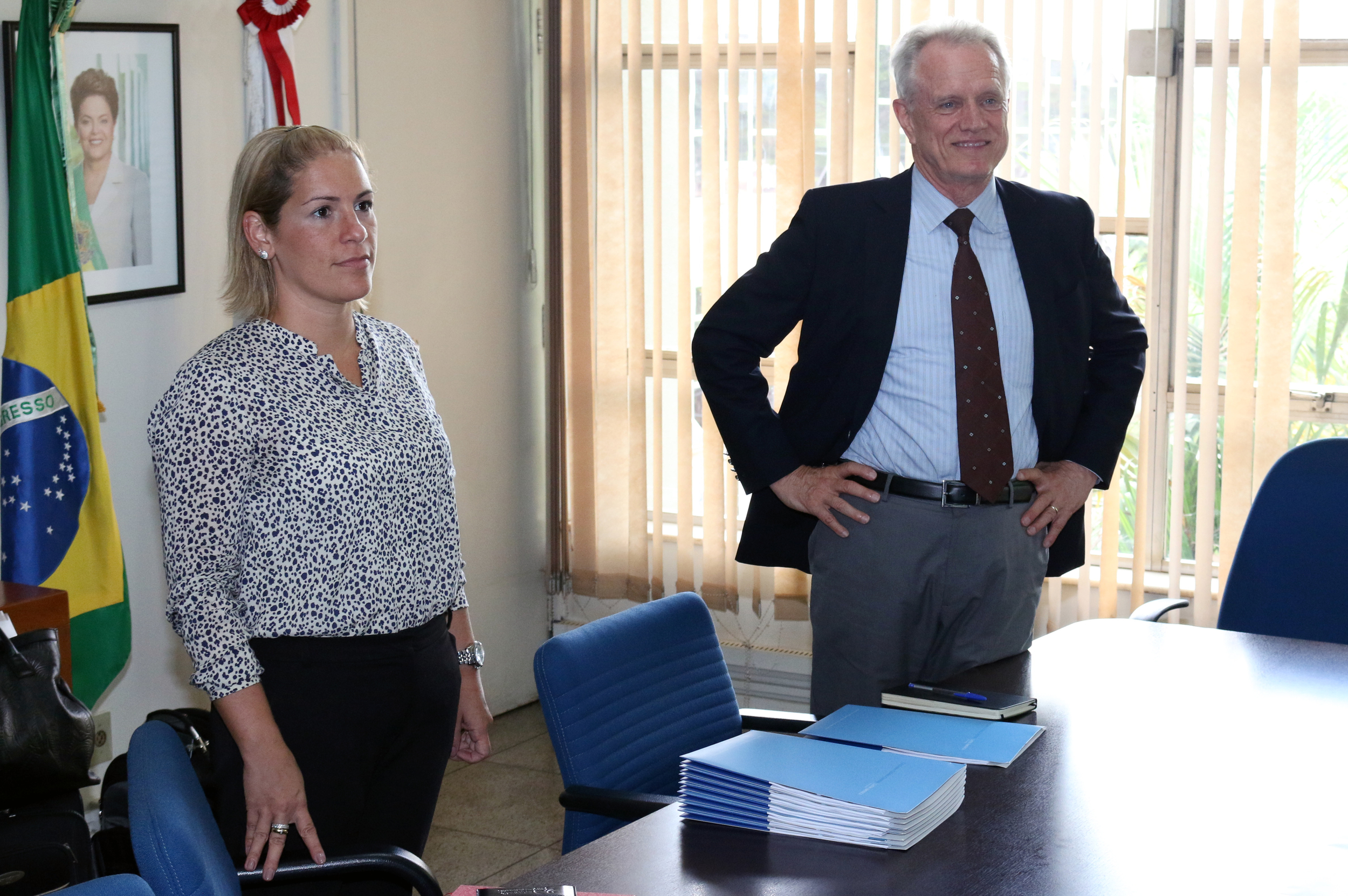 Maria Luiza e Trebat são, respectivamente, Coordenadora e Diretor do Columbia Global Center no Brasil