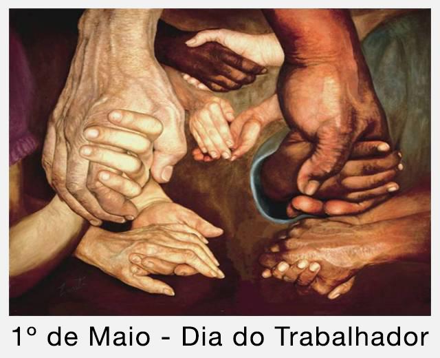 Hands Together, tela de June Pauline Zent.