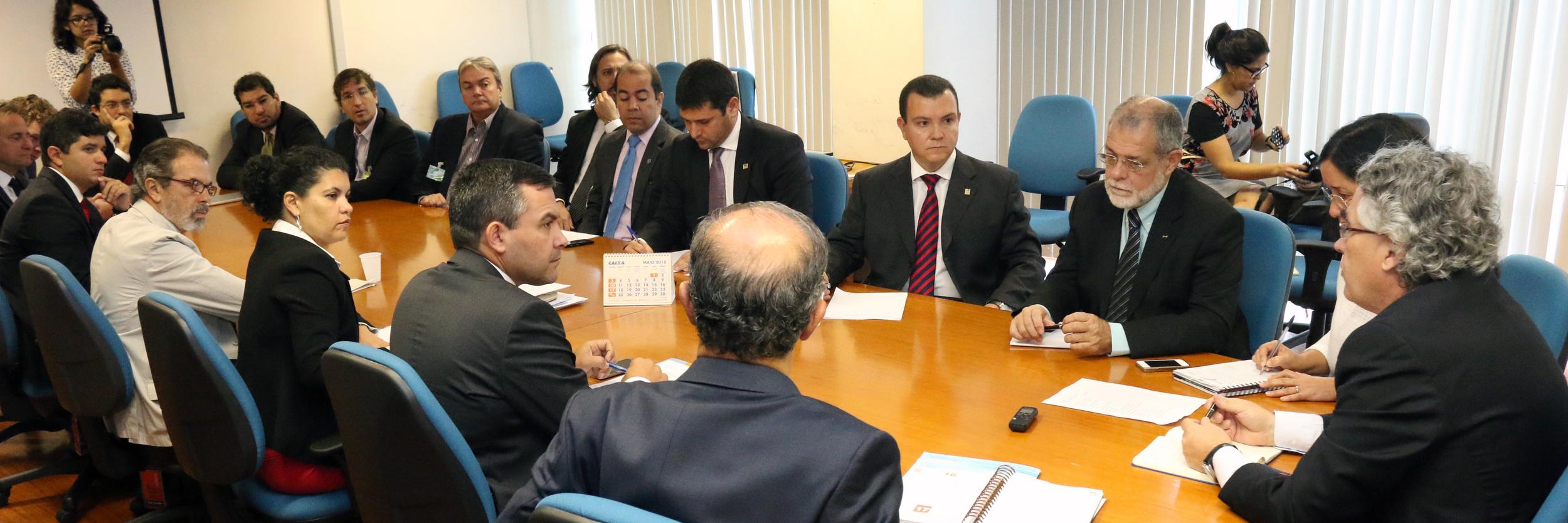 Líderes do Ciclo de Gestão se reuniram com Sérgio Mendonça para tratar da Campanha Salarial 2015. Foto: Filipe Calmon / ANESP