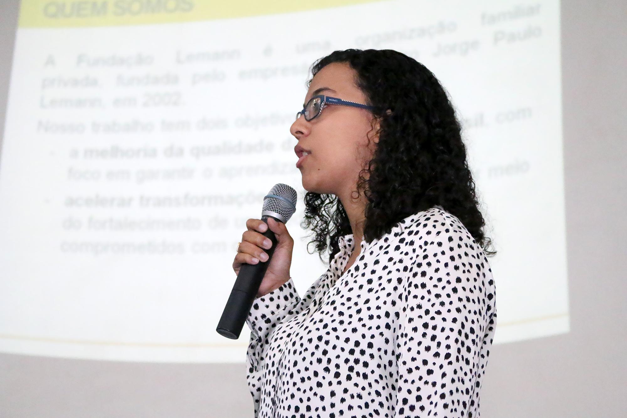 Mariana Fontoura explicou a atuação da Fundação Lemann