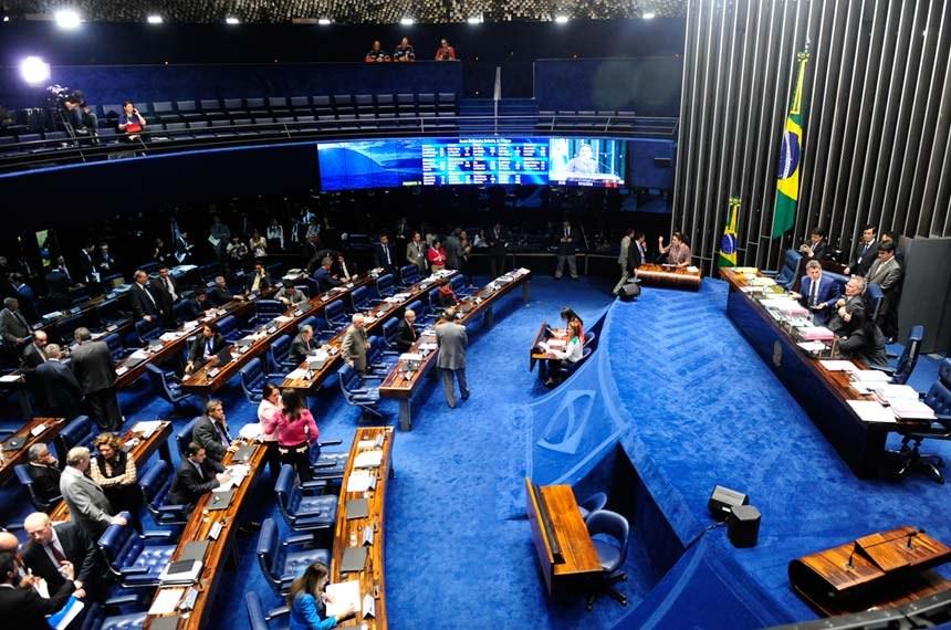 Sessão do Senado Federal que aprovou o projeto que dá efetividade ao limite de remuneração imposto pela Constituição aos agentes públicos, acabando com os supersalários. Foto:Jonas Pereira / Agência Senado