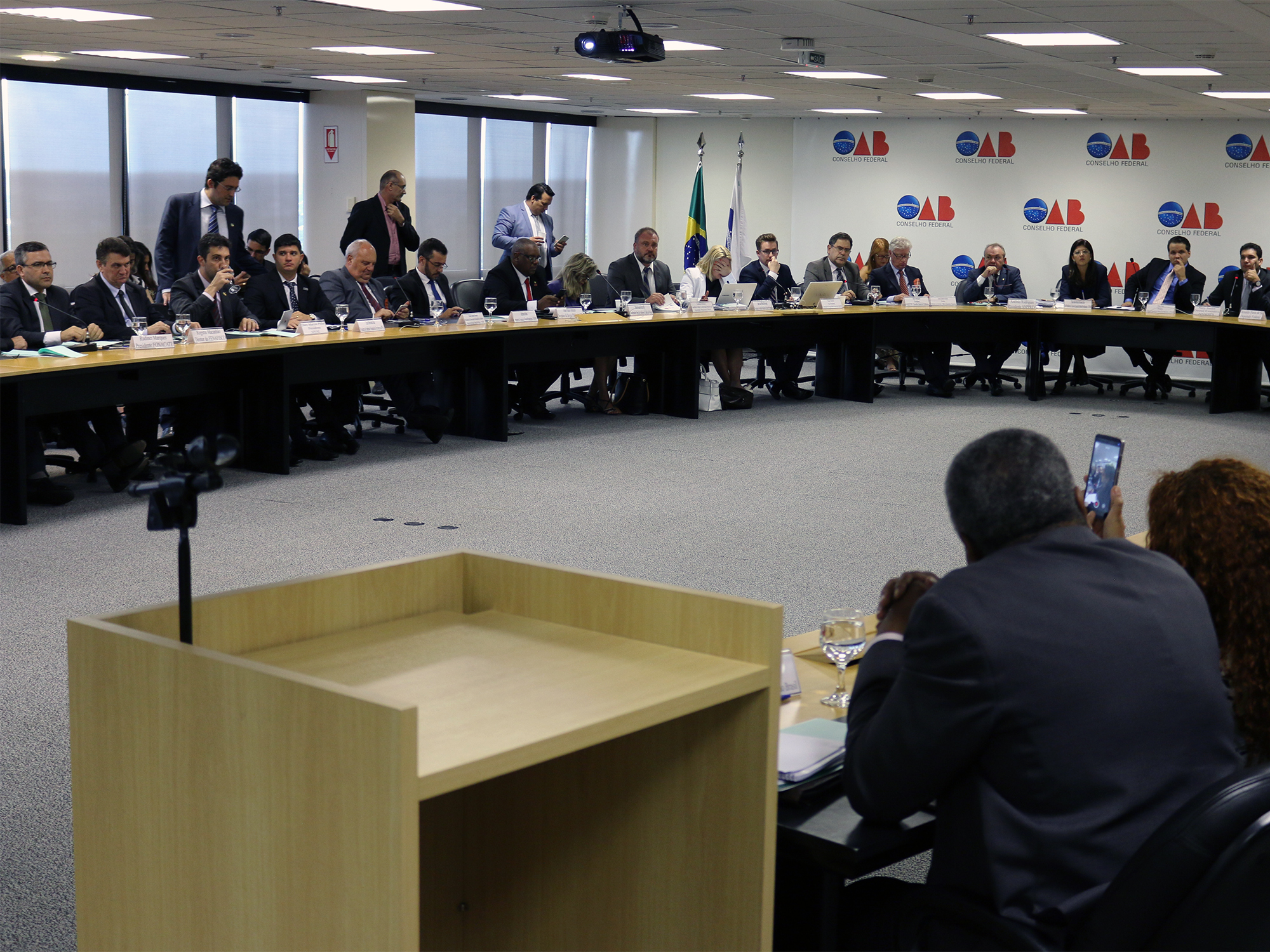 Auditório da OAB Nacional recebeu dezenas de representantes da sociedade civil organizada.