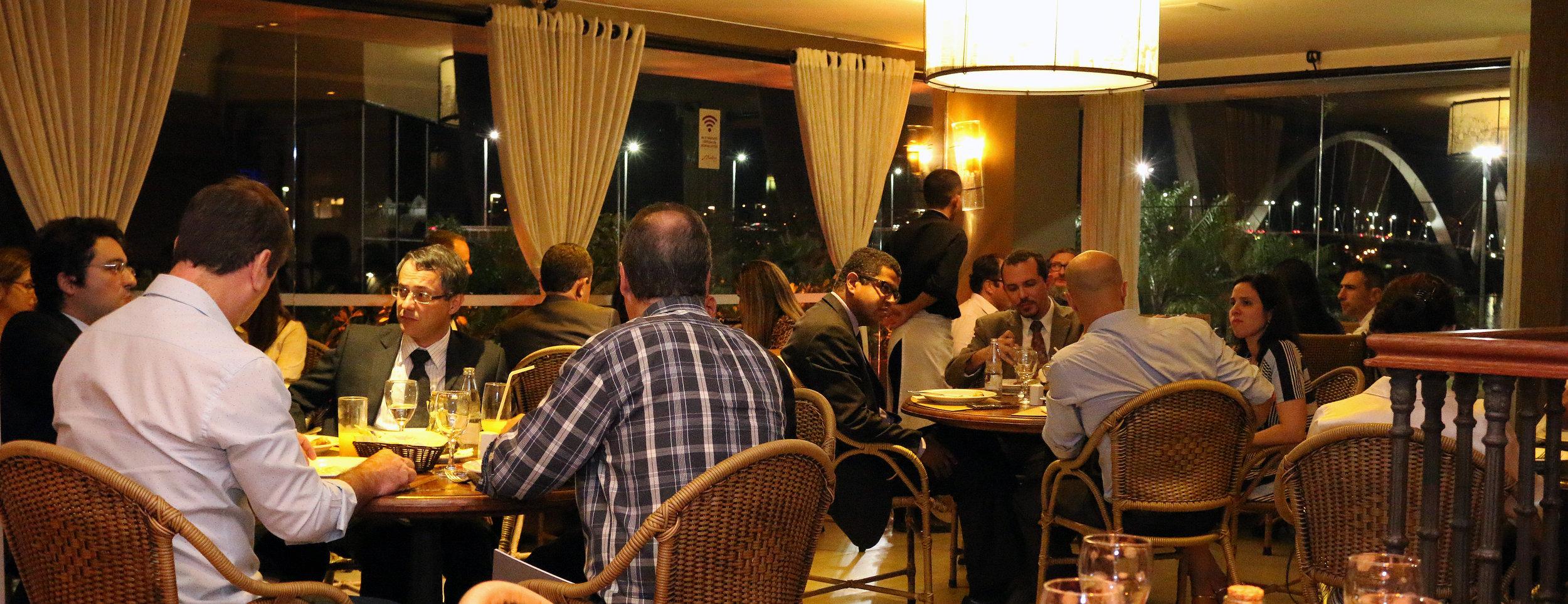 Evento foi realizado em pizzaria próxima à Ponte JK.Foto: Filipe Calmon / ANESP
