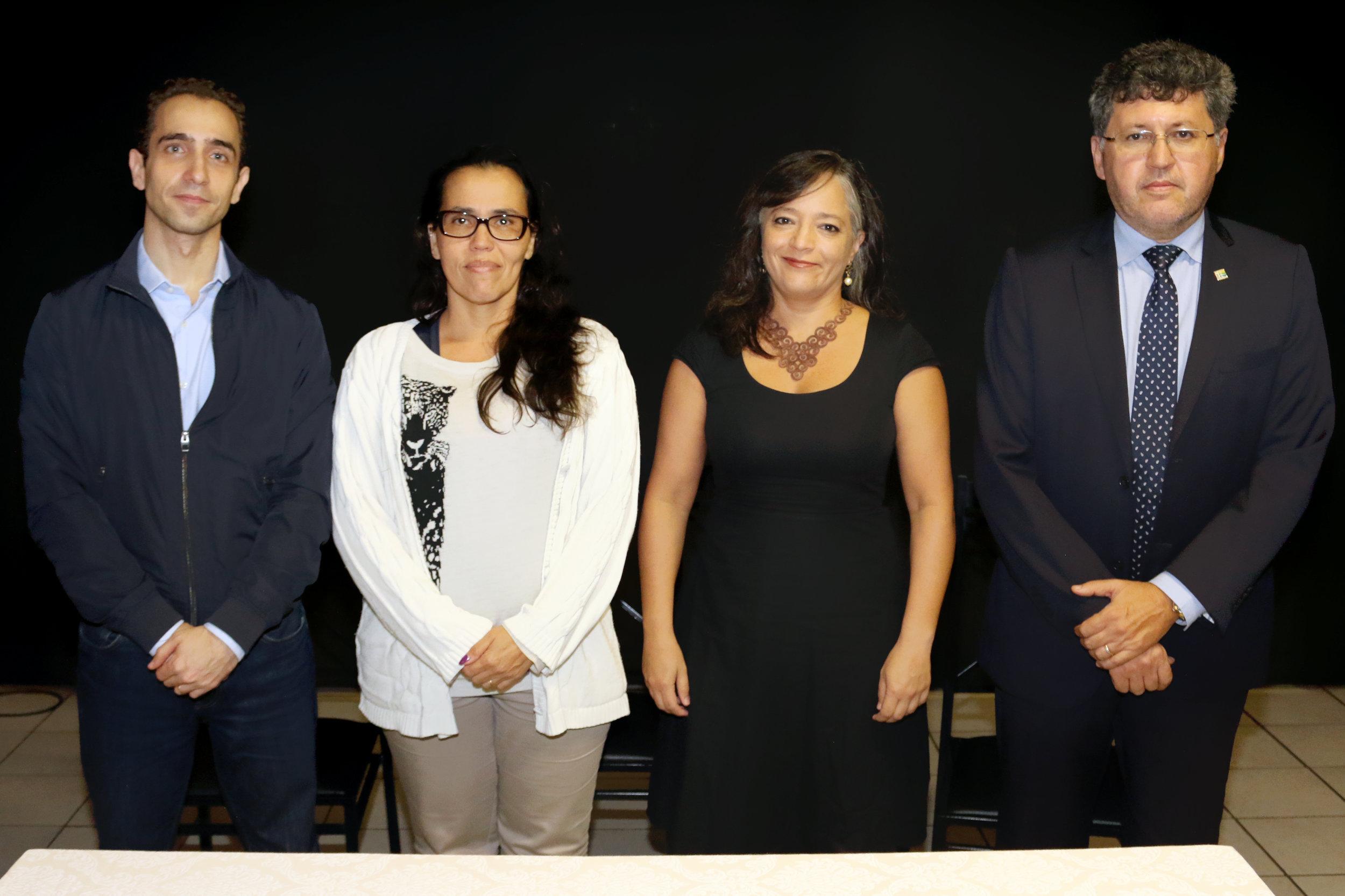 Novo Conselho da ANESP: Matheus Azevedo, Regina Luna, Leila Ollaik e Alex Machado.