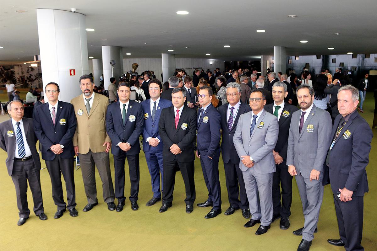 Líderes do Fonacate presentes no Salão Verde. Foto: Filipe Calmon / ANESP