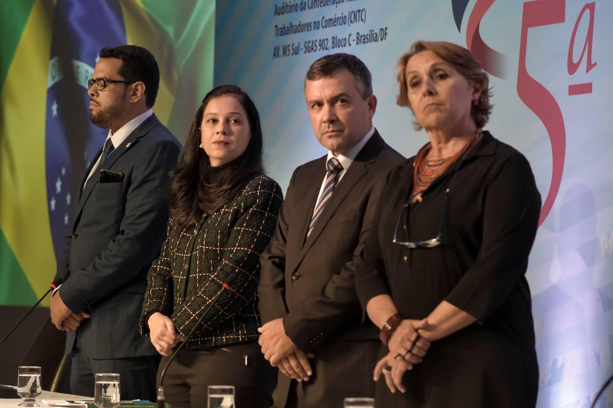 Marcelino Rodrigues, Grace Mendonça, Rudnei Marques e Erika Kokay. Foto: Fonacate